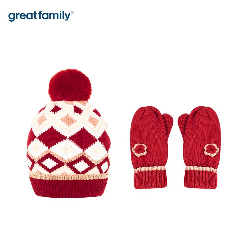 歌瑞家A类女童节日红两件套