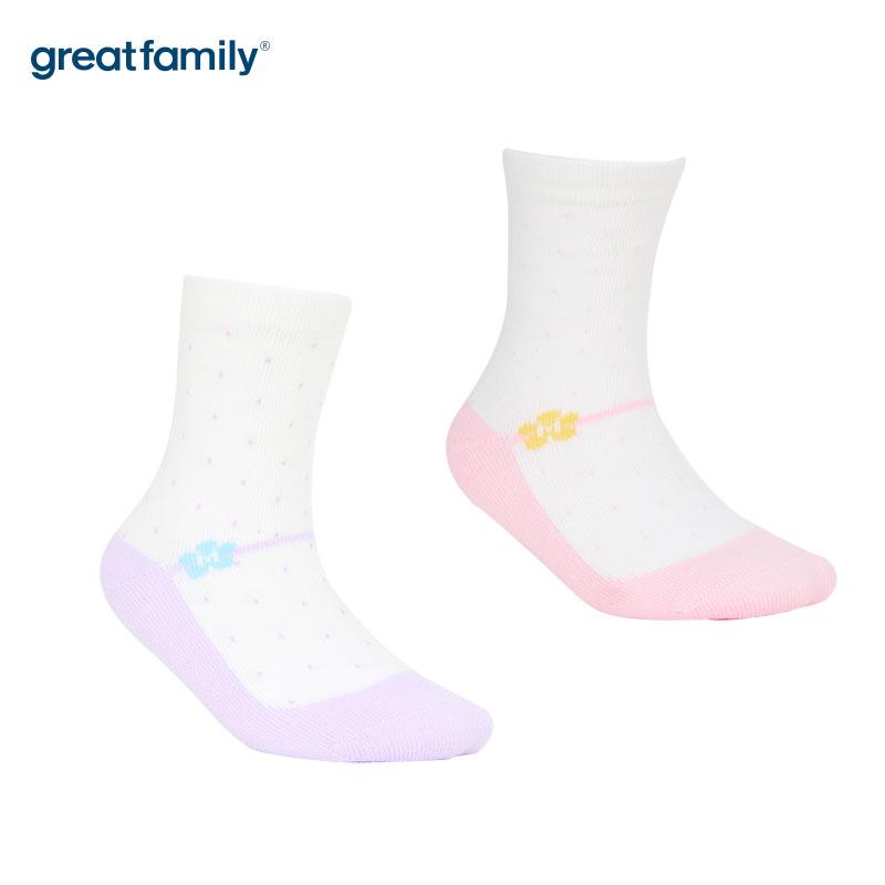 歌瑞家A类混色女童中筒袜
