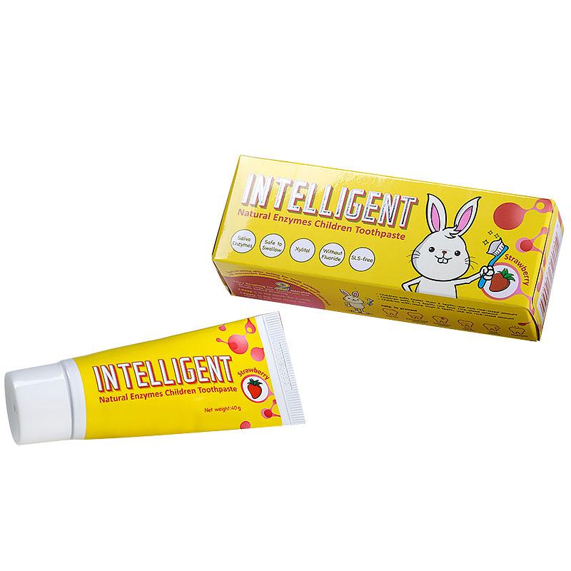 因特力净Intelligent--儿童酵素牙膏草莓味40g/支