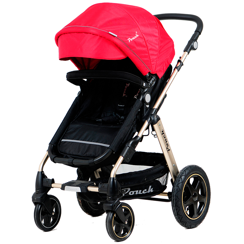 Pouch帛琦欧洲婴儿推车轻便婴儿车手推车避震高景观可坐可躺折叠童车
