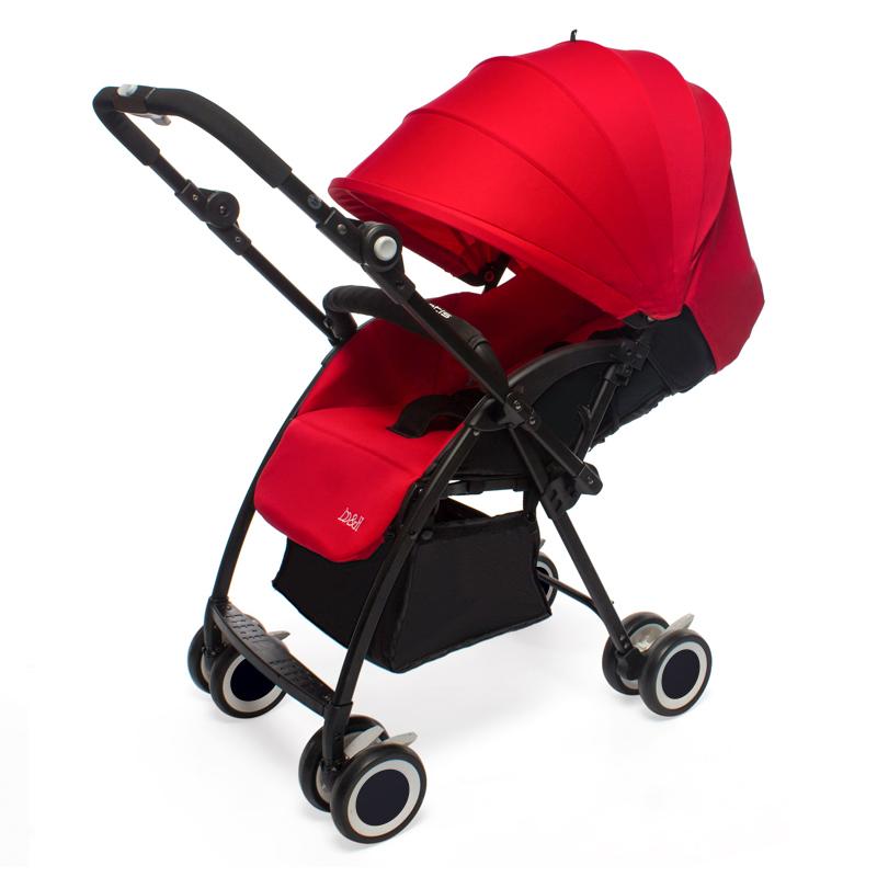 宝琪婴儿双向推车可坐可躺双向轻便携可折叠新生儿童婴儿车 玫瑰红