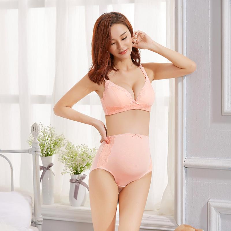 歌瑞家--蕾丝时尚高腰孕产内裤