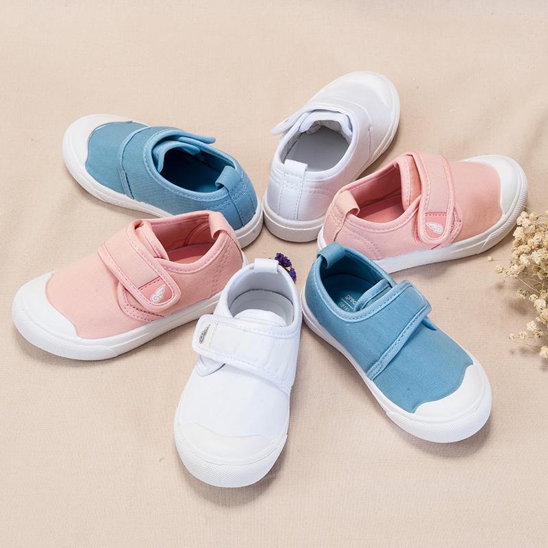 歌瑞家(greatfamily)中性素色帆布鞋GB181-020SH白13.5CM双