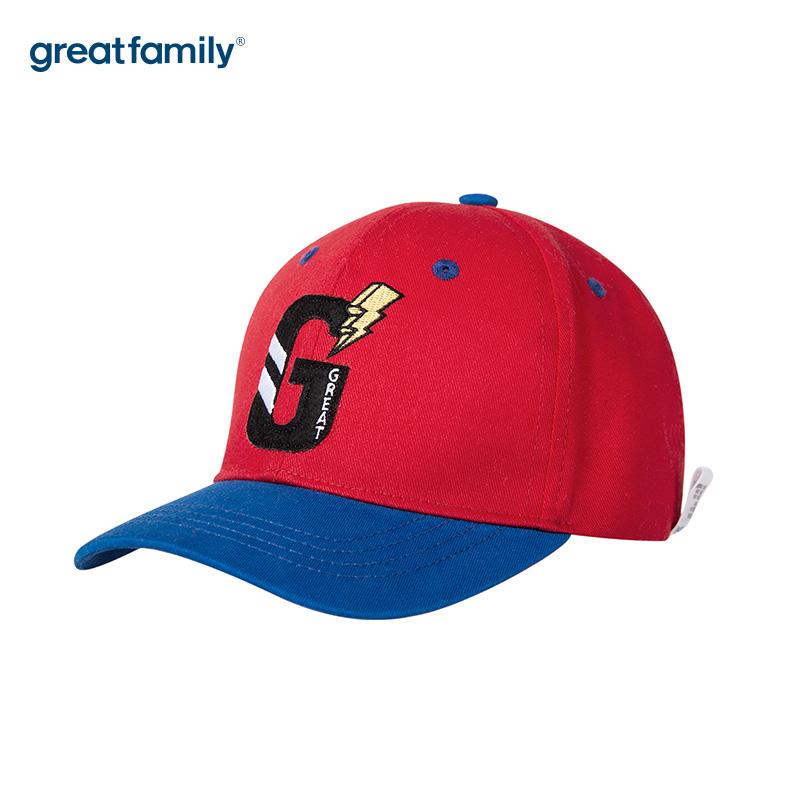 歌瑞家A类男童棒球帽红色男童帽遮阳帽儿童帽子