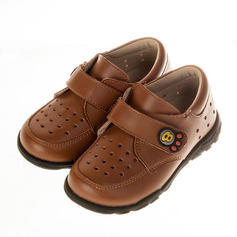 歌瑞贝儿时尚绅士皮婴儿鞋咖色13.5码GB151-023SH