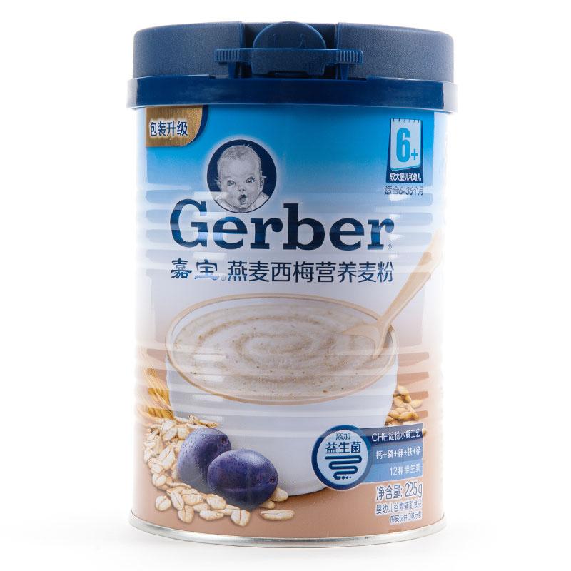 嘉宝Gerber燕麦西梅营养麦粉200g