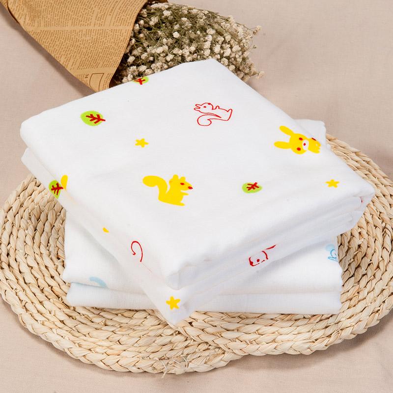 歌瑞家greatfamily小松鼠竹纤维+毛圈正方形浴巾混色
