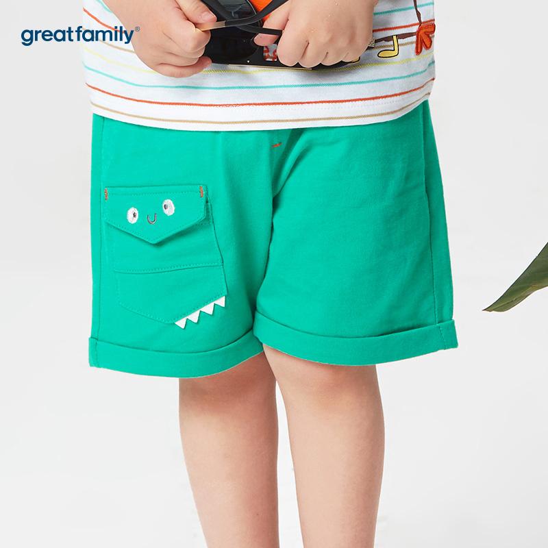 歌瑞家A类梦想王国绿色男卡通短裤