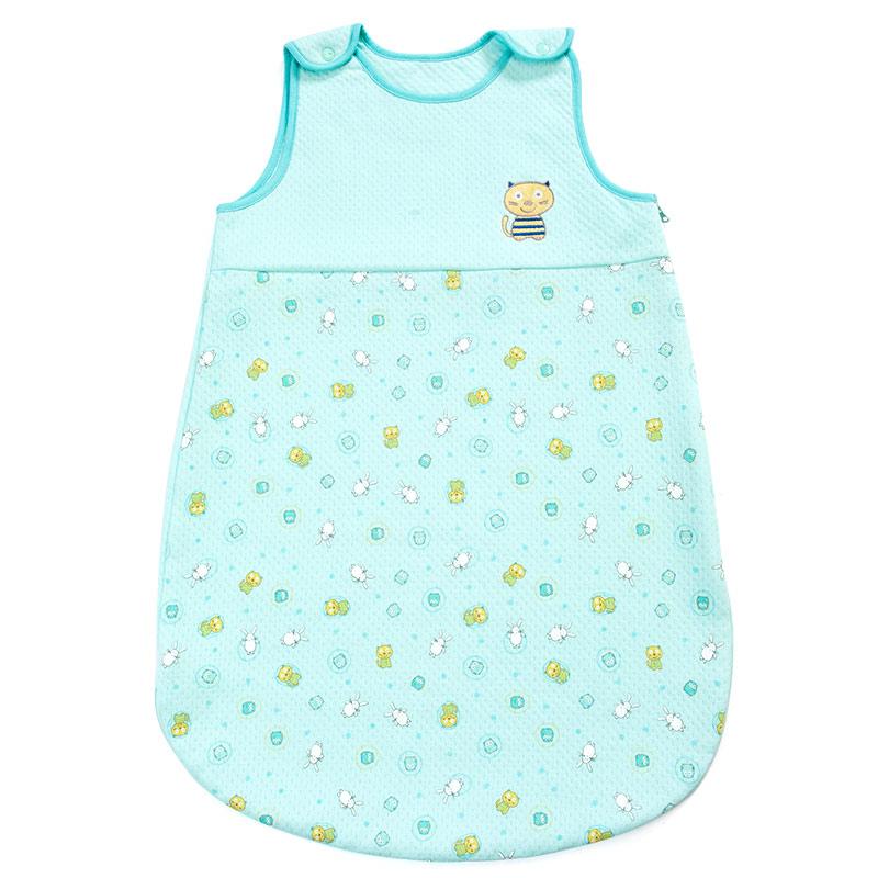 歌瑞贝儿Great Baby(T)可爱圈圈夹丝无袖睡袋GB140-993QW蓝混码