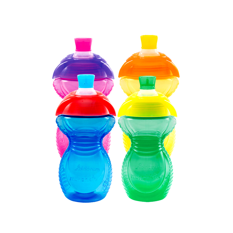 满趣健麦肯齐防咬损幼儿鸭嘴杯 儿童训练杯学饮杯宝宝水杯 颜色随机