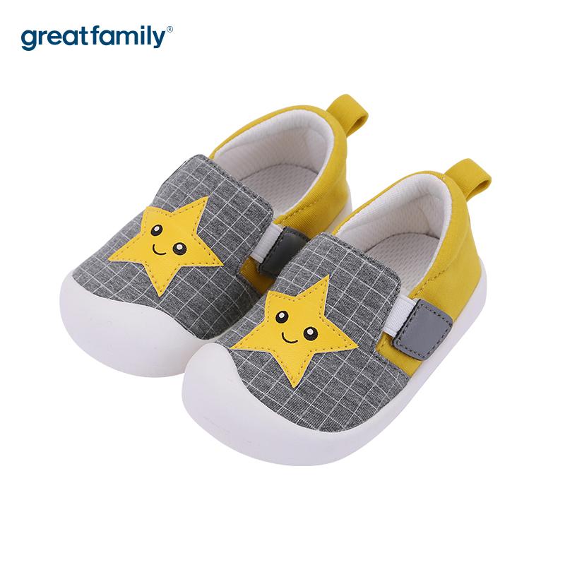 歌瑞家(greatfamily)男婴星星宝宝鞋GBS3-010SH黄12CM双