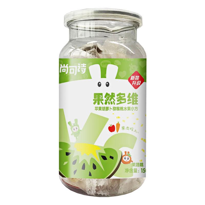 尚可诗果然多维水果软糖(苹果胡萝卜猕猴桃)150g/听
