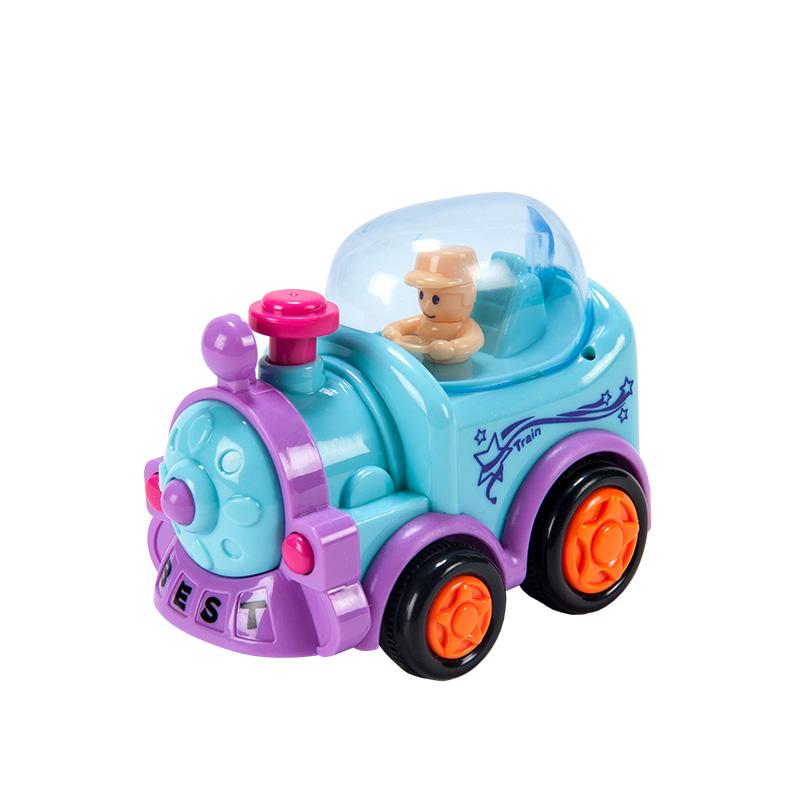 字母婴幼儿益智趣味玩具惯性带人仔火车
