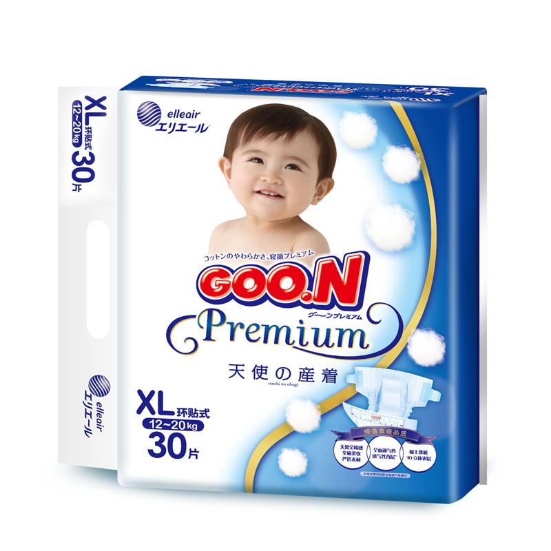 GOO.N婴儿纸尿裤天使系列XL(12-20kg)30片/包