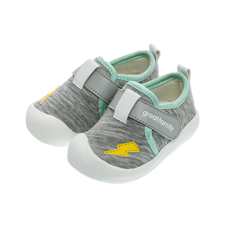 歌瑞家(greatfamily)男婴素色宝宝鞋GBS1-010SH灰12CM双