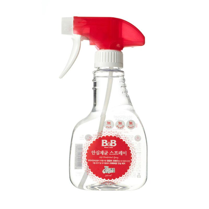 保宁B&B韩国进口宁安心治菌喷雾剂300ml清洁婴儿用品和玩具