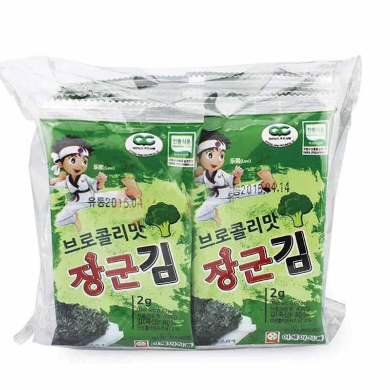 乐曦--西兰花味海苔(韩国原装进口)(6月以上)2g*10袋/包