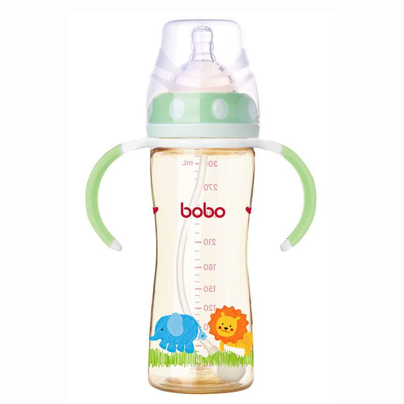 乐儿宝BOBO自动宽口径PPSU奶瓶快流量300ml