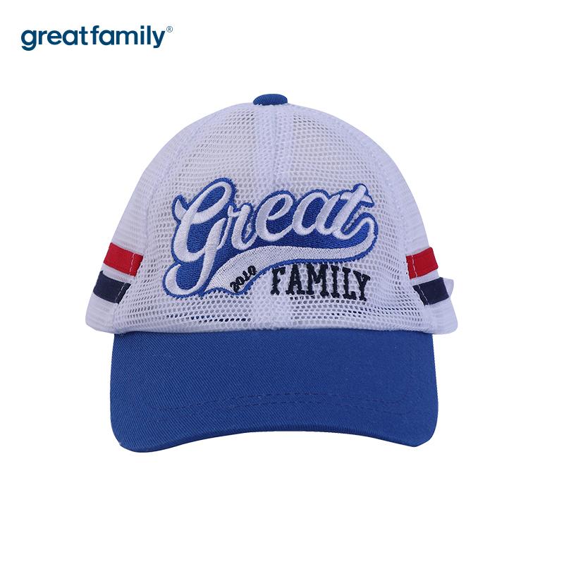 歌瑞家A类男童蓝色网眼棒球帽帽子