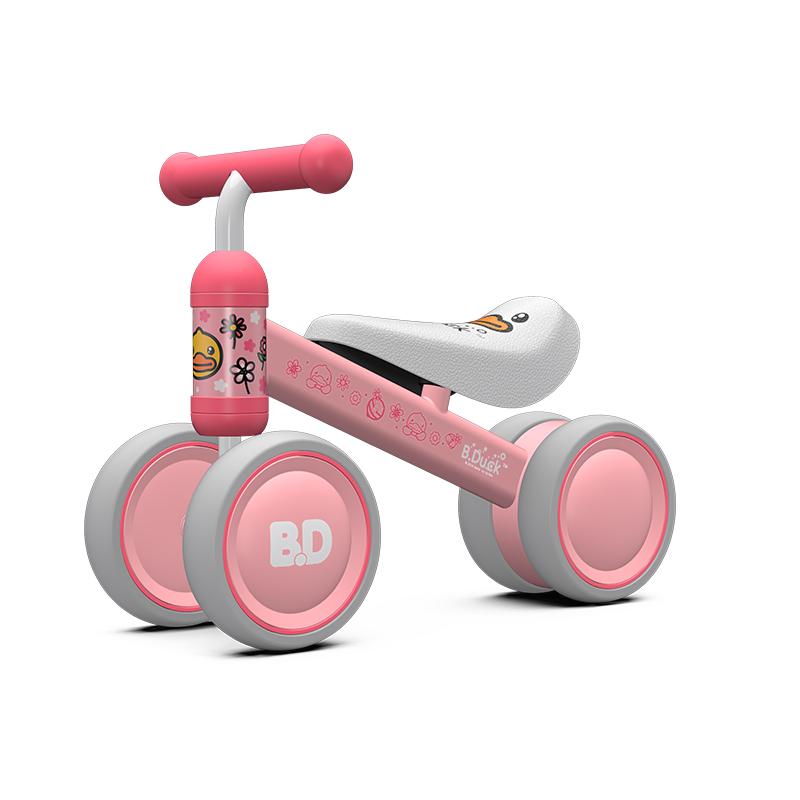 乐的平衡车滑步车儿童1-3岁宝宝溜溜车无脚踏婴儿滑行车学步玩具小粉鸭1003