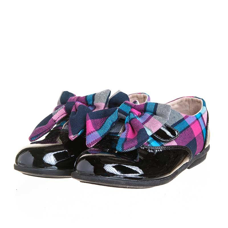 歌瑞凯儿(新)--靓丽格子鞋(女童鞋)GK143-003SH黑18CM