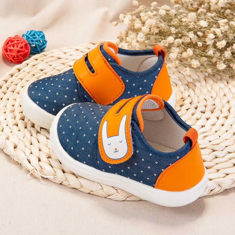 歌瑞家(greatfamily)男婴素色宝宝鞋GB181-009SH蓝12CM双