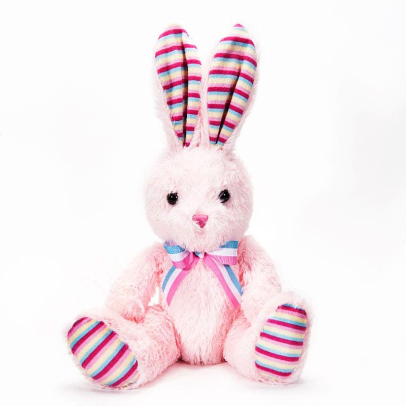 字母毛绒玩具兔子粉色