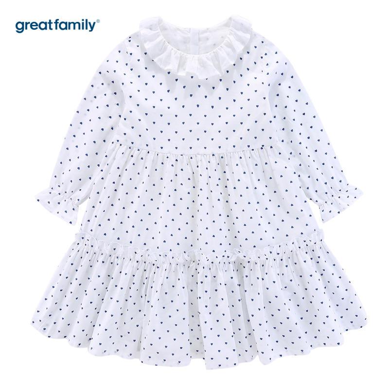 歌瑞家A类女童白色连衣裙120
