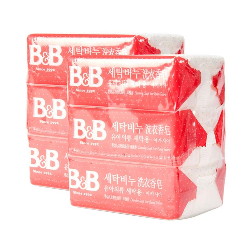 保宁B&B韩国洗衣香皂洋槐香味200g*9块