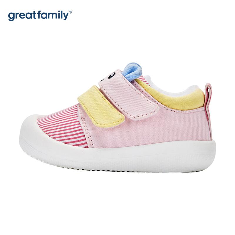 歌瑞家(greatfamily)女婴可爱动物宝宝鞋GBS4-013SH粉