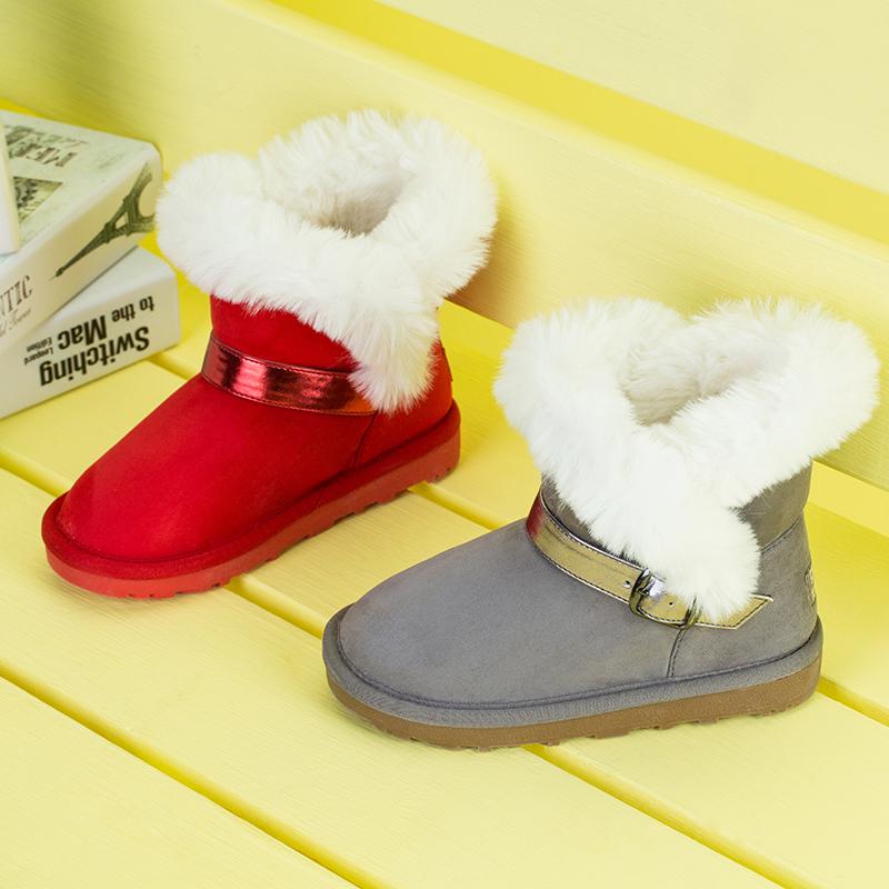 歌瑞凯儿(新)女婴雪地靴GKR4-005SH红14CM双