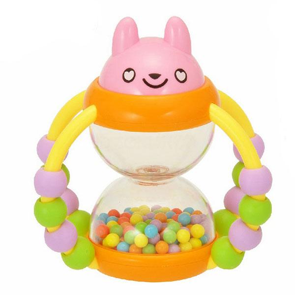 澳贝(Auby)花篮沙漏婴儿摇铃玩具宝宝锻炼手指灵活性