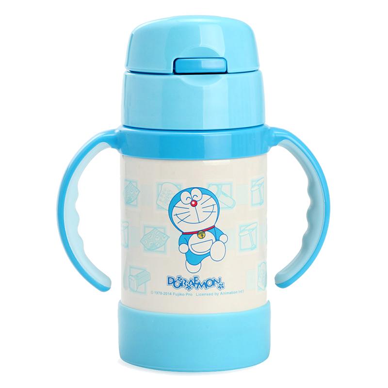 膳魔师THERMOS儿童双耳不锈钢吸管杯儿童保温杯宝宝吸管杯带把手DRMFEC-281TY(DRM)280ml