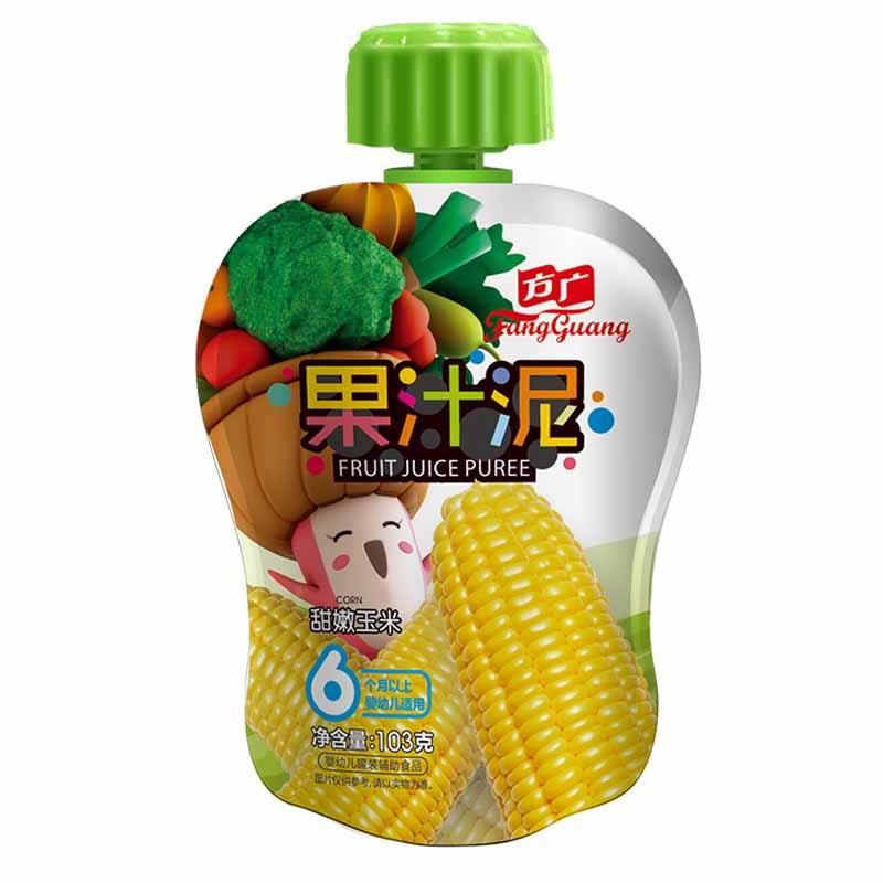 方广甜嫩玉米果汁泥袋装103g6月以上