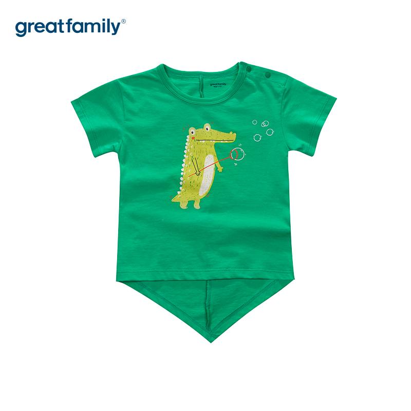 歌瑞家A类梦想王国绿男T恤短袖夏季