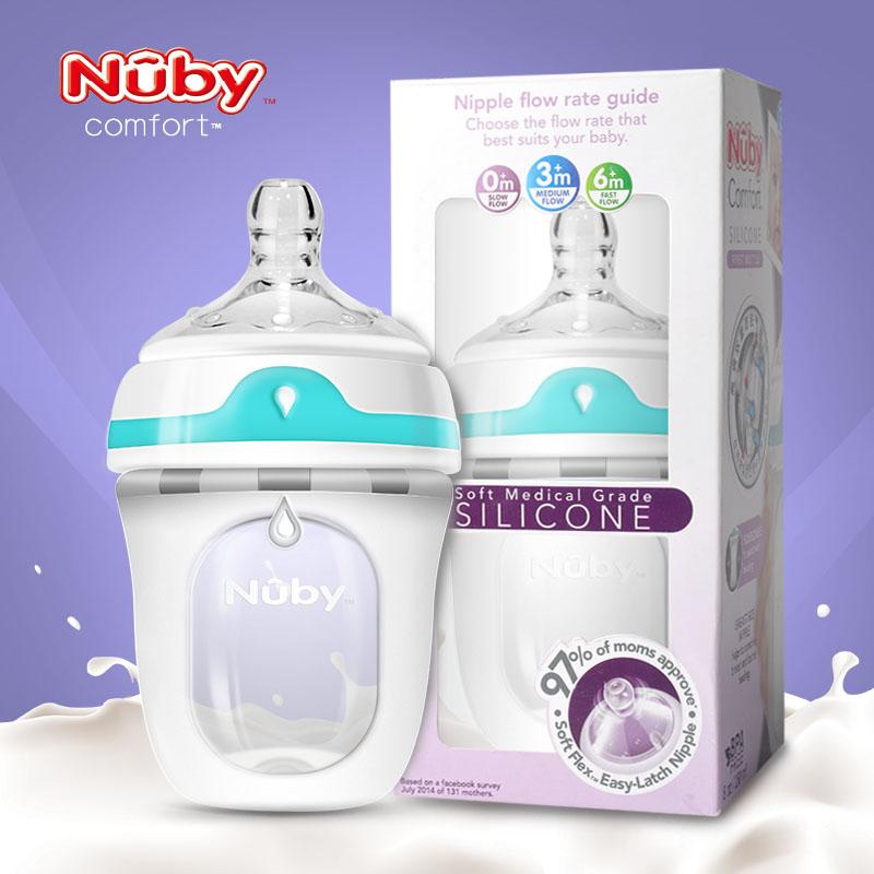 努比nubyComfort新生儿硅胶奶瓶150ml(0-3月)1支装