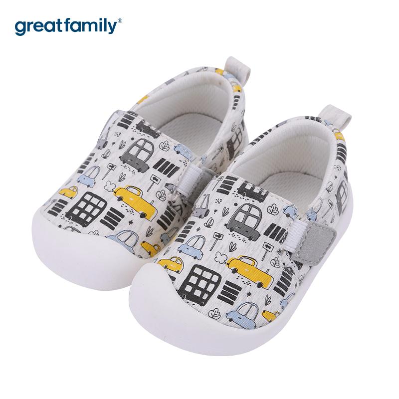 歌瑞家(greatfamily)中性印花宝宝鞋GBS3-009SH白13.5CM双