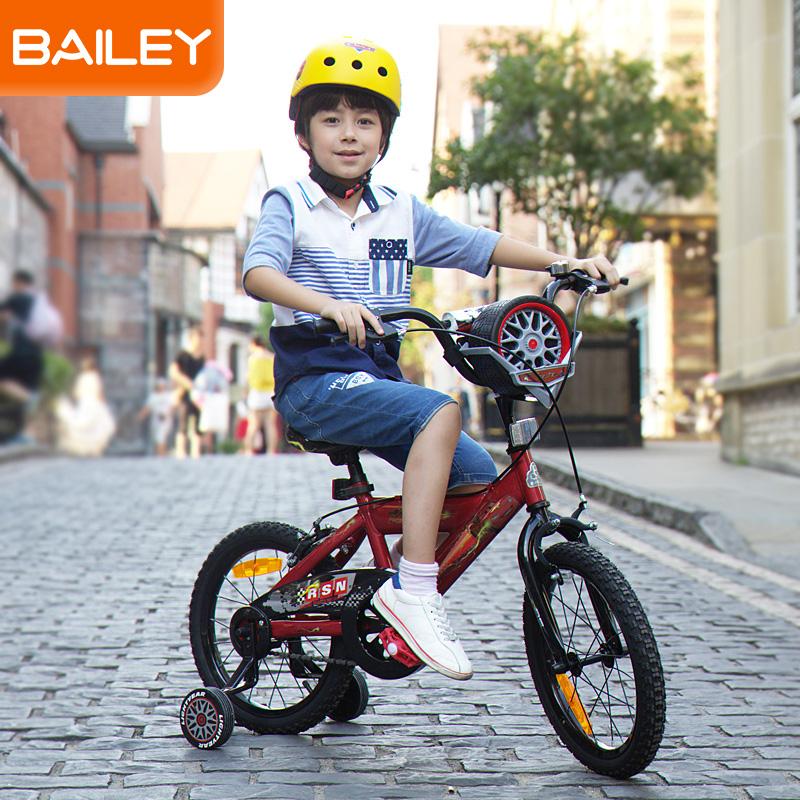 贝乐童车迪士尼系列汽车总动员轮胎盒自行车16寸 红色