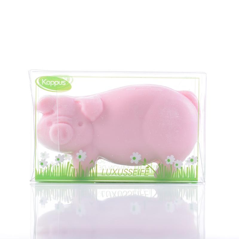 吉百事德国原装进口儿童卡通沐浴皂可爱粉红猪