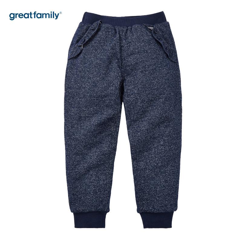 歌瑞家(Greatfamily)A类女童藏青色闪亮针织裤/卫裤