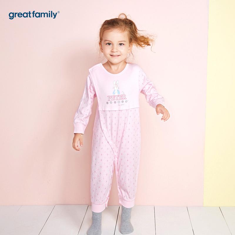 歌瑞家(Greatfamily)比得兔(PeterRabbit)A类女宝宝舒绒粉色妙妙装