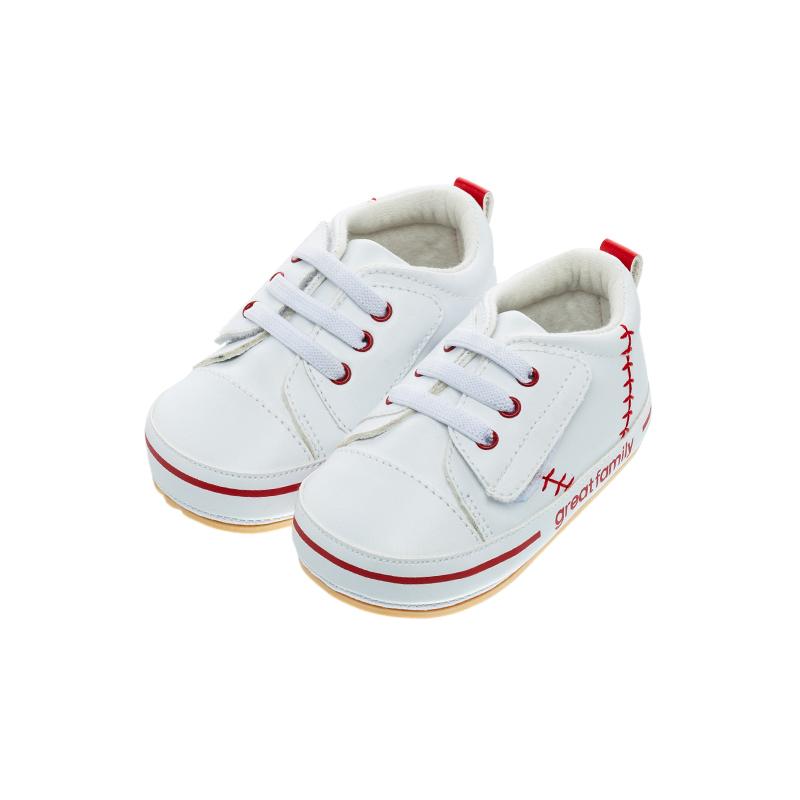歌瑞家(greatfamily)中性运动宝宝鞋GBS1-005SH白12CM双