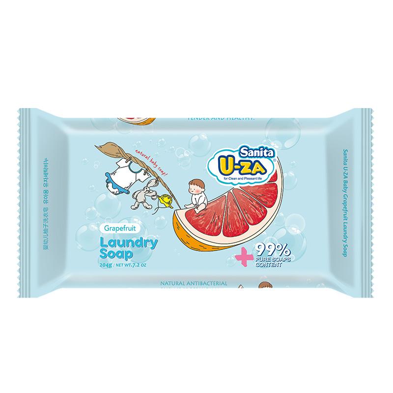 U-za--婴幼儿柚子洗衣皂204g/块