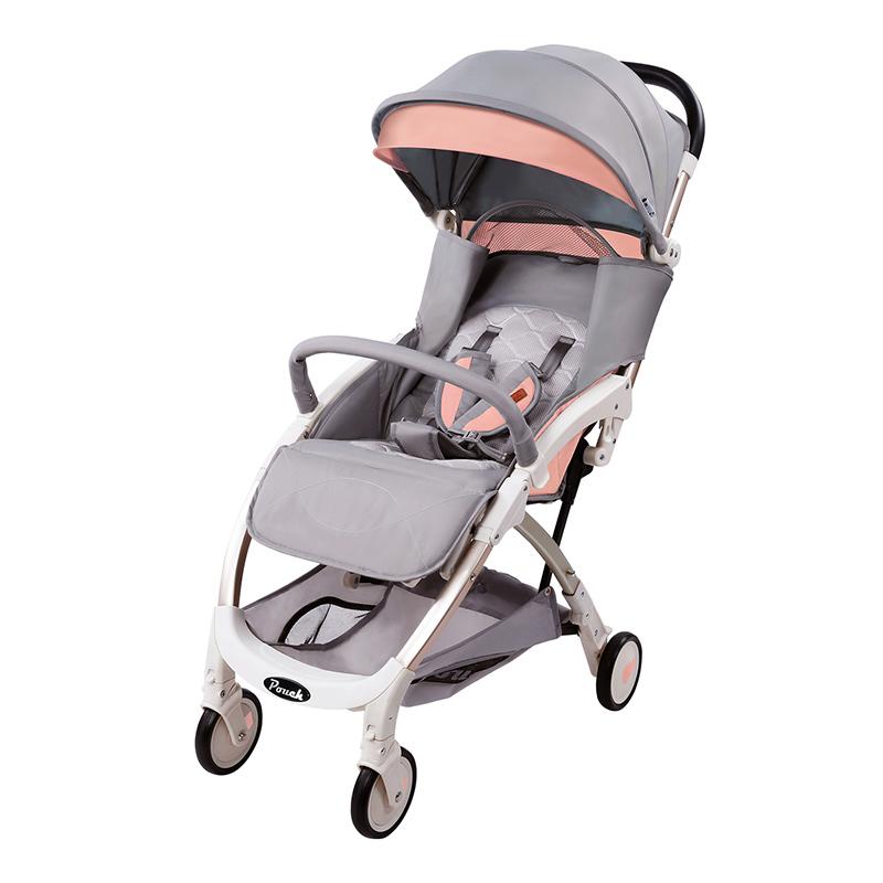 Pouch婴儿推车可坐可躺轻便折叠儿童手推车上飞机宝宝伞车夏A18 粉色