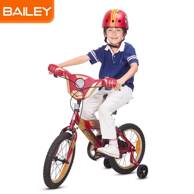 贝乐童车迪士尼系列钢铁侠音乐自行车18寸 红色