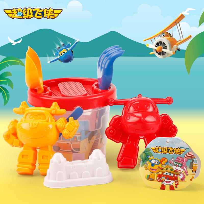 超级飞侠透明沙滩桶