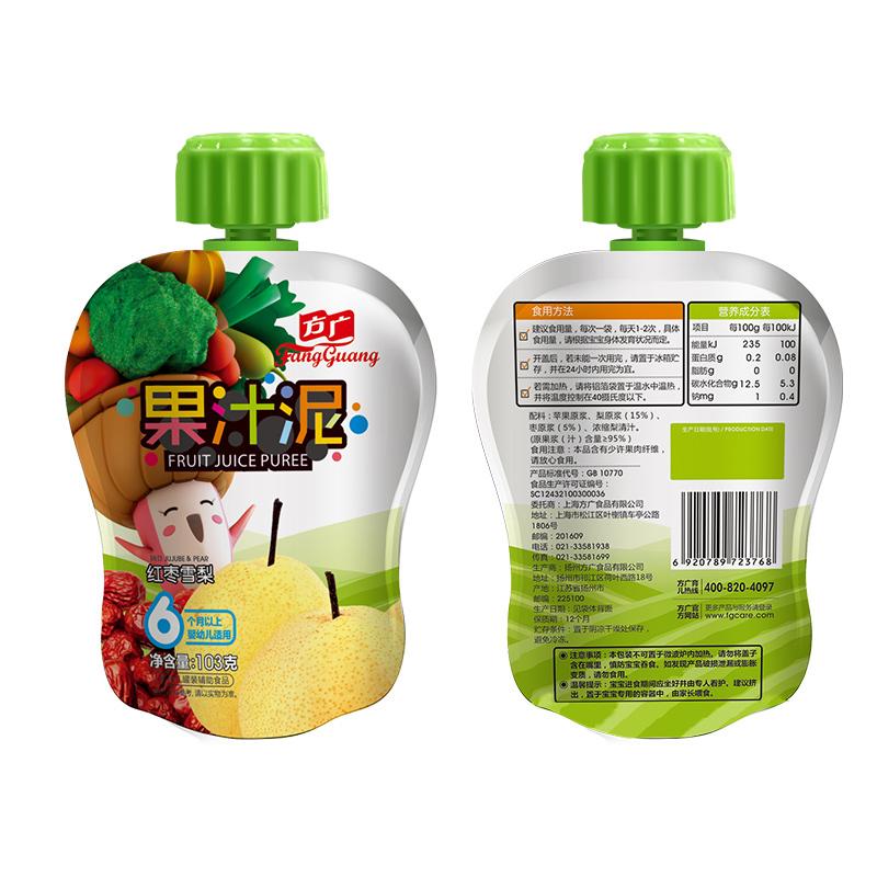 方广红枣雪梨果汁泥袋装103g6个月以上