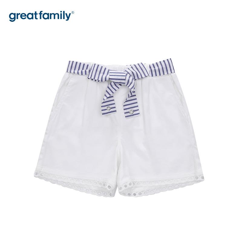 歌瑞家A类女童白短裤
