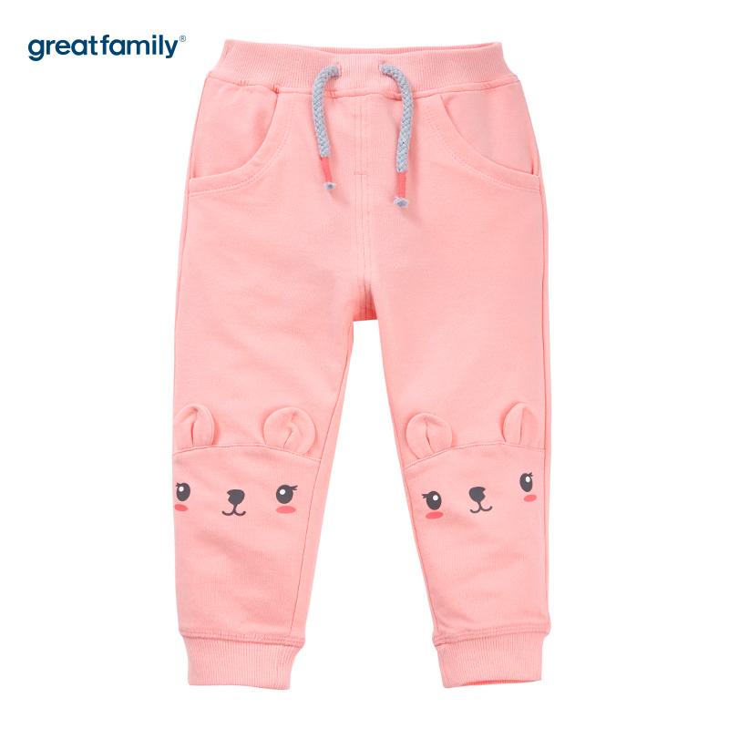 歌瑞家(Greatfamily)A类女宝宝粉纯棉卫裤