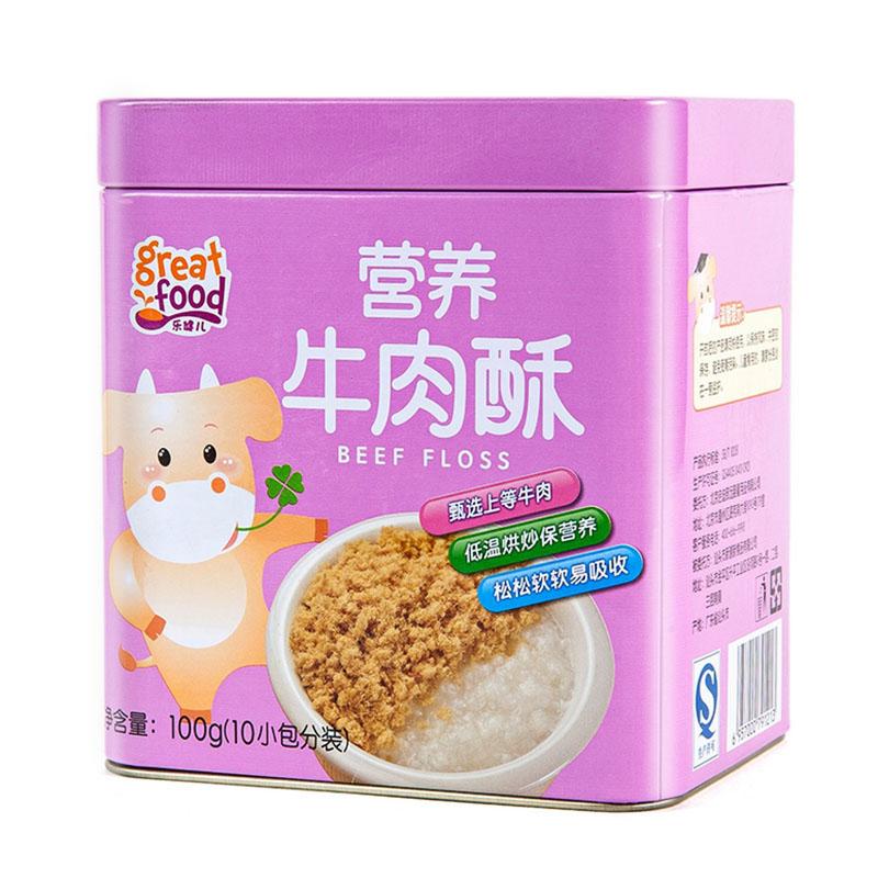乐健儿GreatFood营养牛肉酥100g(原味)